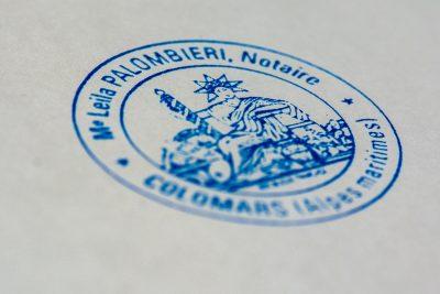 Sceau Notaire acte notarié alpes maritimes